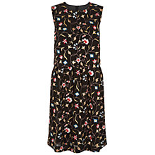 Buy Hobbs Ella Embroidered Dress, Black Online at johnlewis.com
