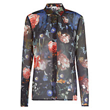 Buy Hobbs Guildhall Blouse, Black Multi Online at johnlewis.com