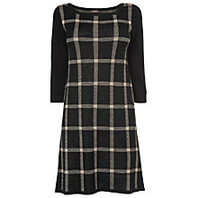 Buy Phase Eight Cara Check Dress, Black/Stone Online at johnlewis.com