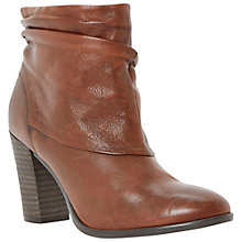 Buy Dune Ninah Leather Slouchy Fur Lined Ankle Boots Online at johnlewis.com