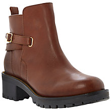 Buy Dune Pabloe Leather Low Heeled Ankle Boots, Tan Online at johnlewis.com