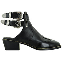 Buy Senso Lucas III Leather Buckle Detail Shoes, Black Online at johnlewis.com