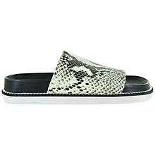 Buy Senso Kailee III Snake Print Leather Sliders, Natural Snake Online at johnlewis.com