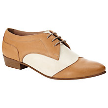 Buy Somerset by Alice Temperley Jaylin Lace Up Leather Shoes, Tan Online at johnlewis.com