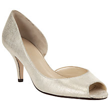 Buy John Lewis Morston Suede Peep Toe Court Shoes Online at johnlewis.com