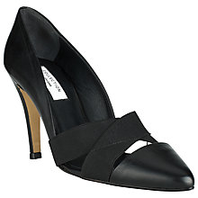 Buy COLLECTION by John Lewis Livorno Leather Pointed Court Shoes, Black Online at johnlewis.com