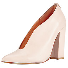 Buy Kin by John Lewis Fifty Nine Leather Court Shoes, Pink Online at johnlewis.com