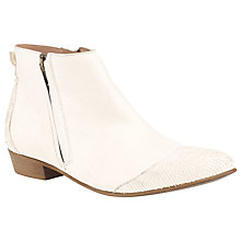 Buy Somerset by Alice Temperley Kyla Pointed Flat Leather Ankle Boots Online at johnlewis.com