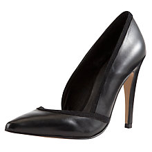 Buy COLLECTION by John Lewis Arezzo Leather Stiletto Court Shoes, Black Online at johnlewis.com