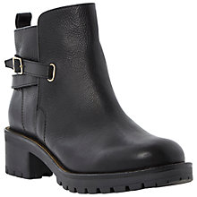Buy Dune Pabloe Leather Low Heeled Ankle Boots, Black Online at johnlewis.com