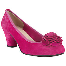 Buy John Lewis Jiselle Suede Court Shoes, Navy Online at johnlewis.com