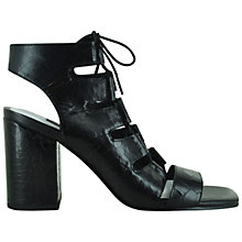 Buy Senso Rhiannon II Leather Croc Effect Sandals, Black Online at johnlewis.com