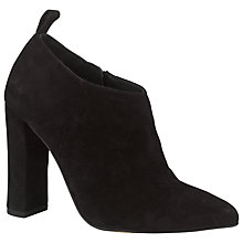 Buy COLLECTION by John Lewis Asti Suede Pointed Ankle Boots, Black Online at johnlewis.com
