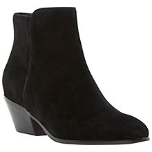 Buy Dune Pankhurst Block Heeled Ankle Boots, Black Suede Online at johnlewis.com