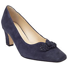 Buy John Lewis Made in England Brancaster Heeled Court Shoes, Navy Suede Online at johnlewis.com