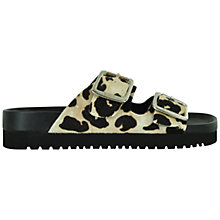 Buy Senso Ida Leopard Pony Leather Double Buckle Slip On Shoes, Leopard Online at johnlewis.com
