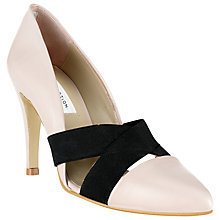 Buy COLLECTION by John Lewis Livorno Leather Pointed Court Shoes, Natural Online at johnlewis.com