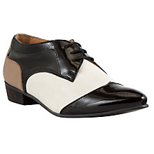 Buy Somerset by Alice Temperley Jaylin Leather Lace Up Shoes, Black/White Online at johnlewis.com