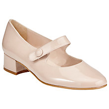 Buy John Lewis Taragon Patent Court Shoes, Nude Online at johnlewis.com