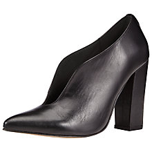 Buy Kin by John Lewis Fifty Nine Leather Court Shoes, Black Online at johnlewis.com