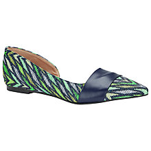 Buy COLLECTION by John Lewis Imola Leather Pointed Pumps, Green/Blue Online at johnlewis.com