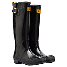 Buy Joules Field Rubber Wellington Boots, Black Online at johnlewis.com
