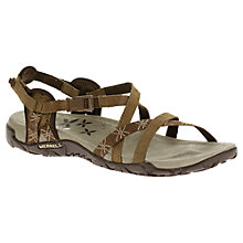 Buy Merrell Terran Nubuck Cross Strap Sandals Online at johnlewis.com