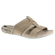 Buy Merrell Mimix Bay Suede Sandals, Cream Online at johnlewis.com