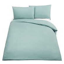 Buy John Lewis Crisp & Fresh Egyptian Cotton 400 Thread Count Bedding, Pale Duck Egg Online at johnlewis.com