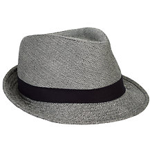 Buy Christys' Camel and Silk Trilby Hat, Black/White Online at johnlewis.com