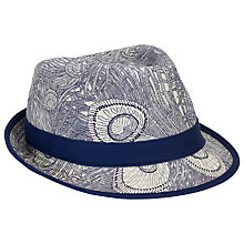 Buy Christys' Liberty Blue Trilby Hat, Navy Online at johnlewis.com