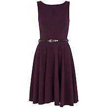 Buy Almari Waffle V-neck Dress, Aubergine Online at johnlewis.com