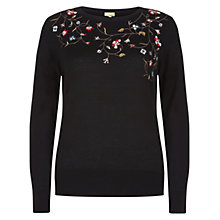 Buy Hobbs Evelyn Jumper, Black Online at johnlewis.com