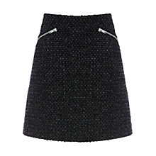 Buy Warehouse Sparkle Tweed Skirt, Black Online at johnlewis.com