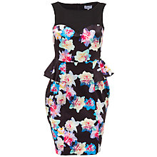 Buy Whistle & Wolf Daffodil Print Peplum Dress, Multi Online at johnlewis.com