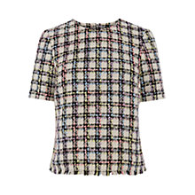 Buy Warehouse Tweed Check Top, Multi Online at johnlewis.com
