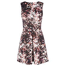 Buy Warehouse Dark Floral Print Dress, Multi Online at johnlewis.com