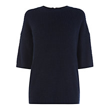Buy Warehouse Waffle Stitch Jumper, Navy Online at johnlewis.com