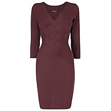 Buy Phase Eight Whitney Weave Dress, Port Online at johnlewis.com