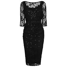Buy Phase Eight Merilee Sequined Dress, Black Online at johnlewis.com