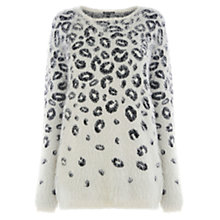 Buy Warehouse Fluffy Animal Jumper, Multi Online at johnlewis.com