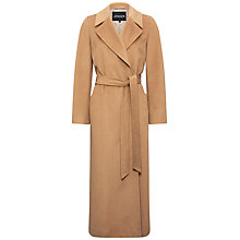 Buy Jaeger Longline Belted Coat, Camel Online at johnlewis.com