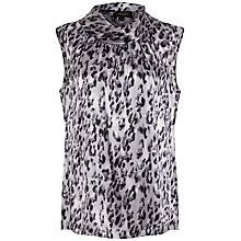 Buy Jaeger Animal Print Blouse, Silver Online at johnlewis.com