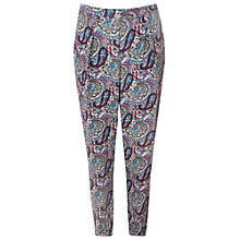 Buy True Decadence Printed Trousers, Plum/Teal Online at johnlewis.com