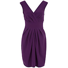 Buy Almari Cross Over V-back Dress, Purple Online at johnlewis.com