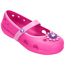 Buy Crocs Children's Keeley Petal Charm Shoes, Pink/Carnation Online at johnlewis.com