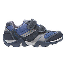 Buy Geox Aragon Twin Rip-Tape Trainers, Navy/Grey Online at johnlewis.com