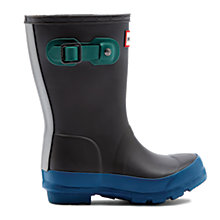 Buy Hunter Kids' Contrast Sole Wellington Boots, Slate Online at johnlewis.com