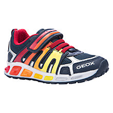 Buy Geox Shuttle Light Up Trainers, Navy/Red Online at johnlewis.com