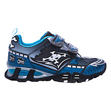 Buy Geox Light Eclipse Pirate Trainers, Navy/Silver Online at johnlewis.com